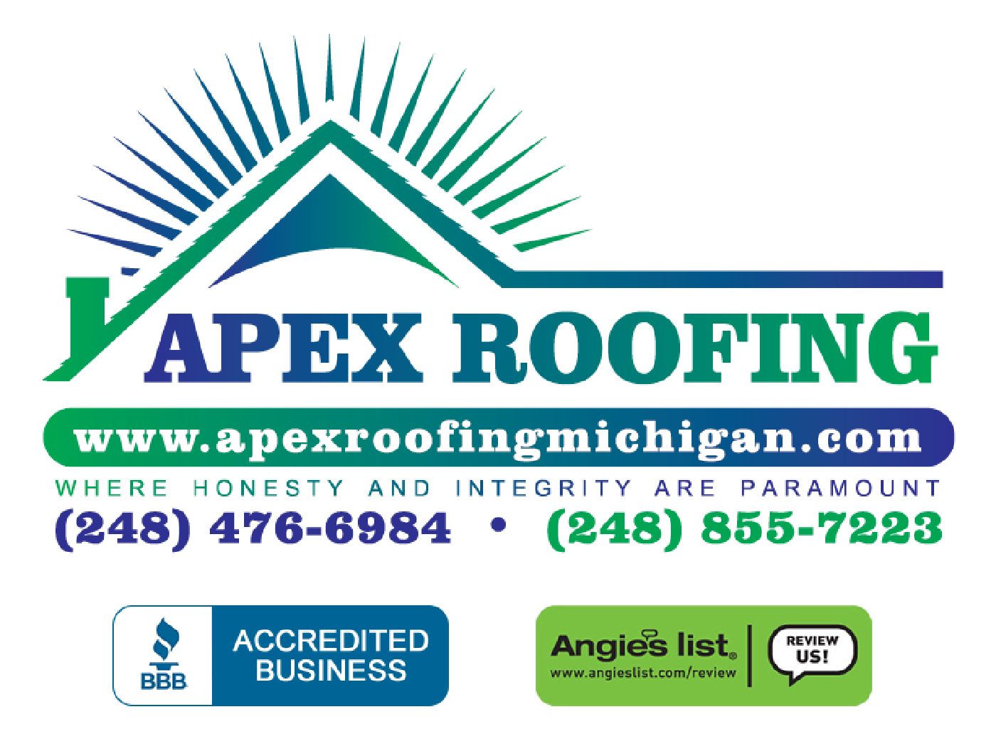 APEX Roofing - Roofing Construction in Southeast Michigan